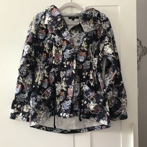 MARGOT || floral print utility jacket